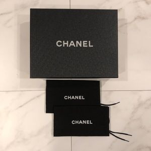 Authentic Chanel Shoe Storage Gift Box + Dust Bags